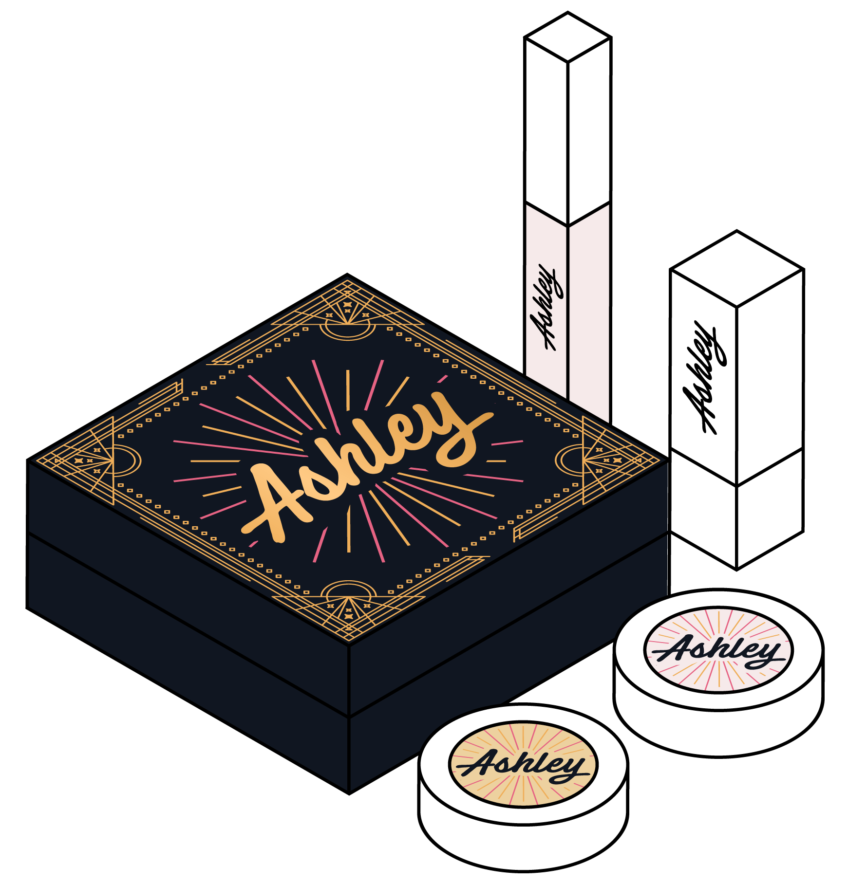 You can design your products, shipping labels, photos and shipping boxes! Create the perfect unboxing experience by the shipping boxes of your product deliveries.